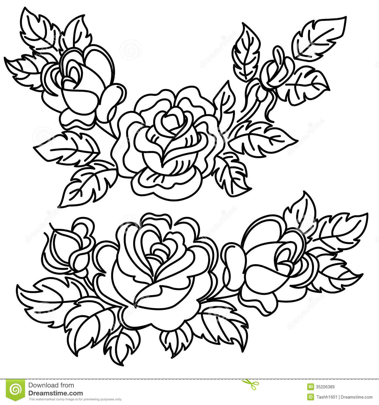 White Rose clipart flower drawing Clip Black Flower Bunch and