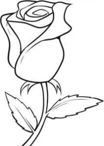 Rose clipart easy #2