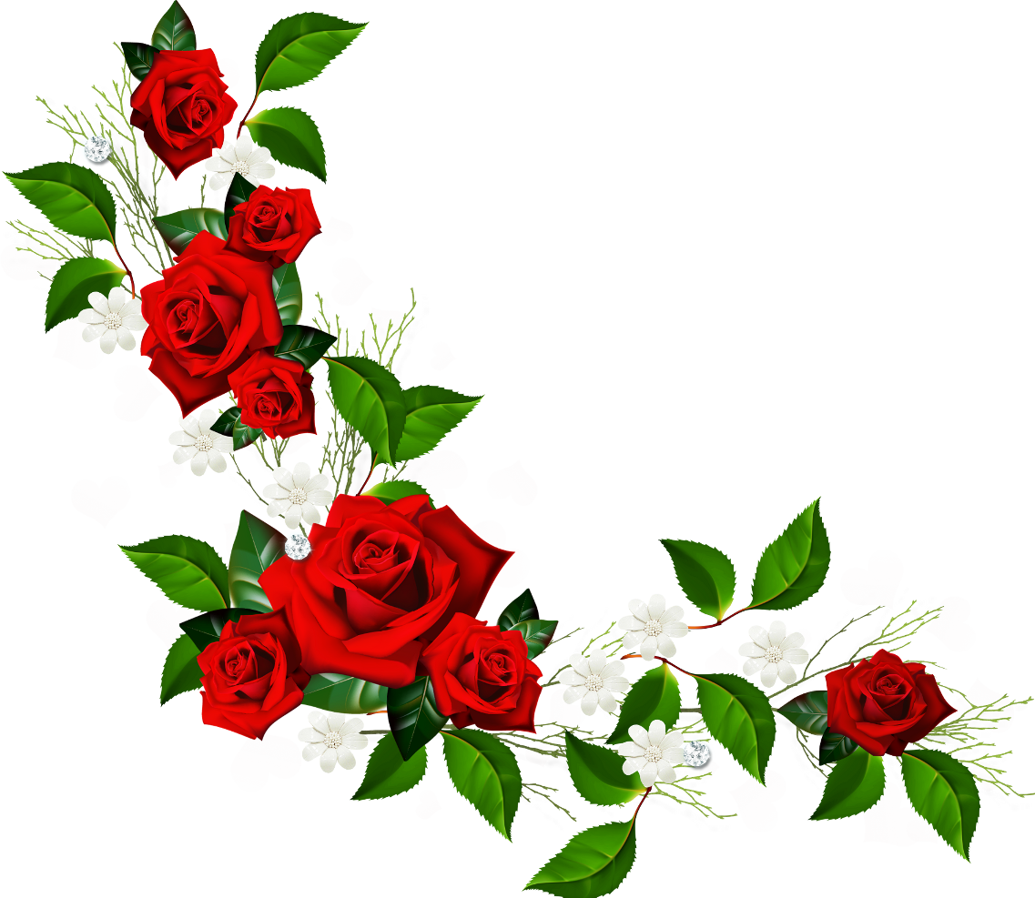 Red Flower clipart valentine rose #10