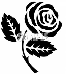 White Rose clipart graphic And Black White Clipart Rose