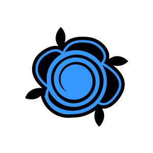 Blue Flower clipart swirl flower Clipart White Flower Design Background