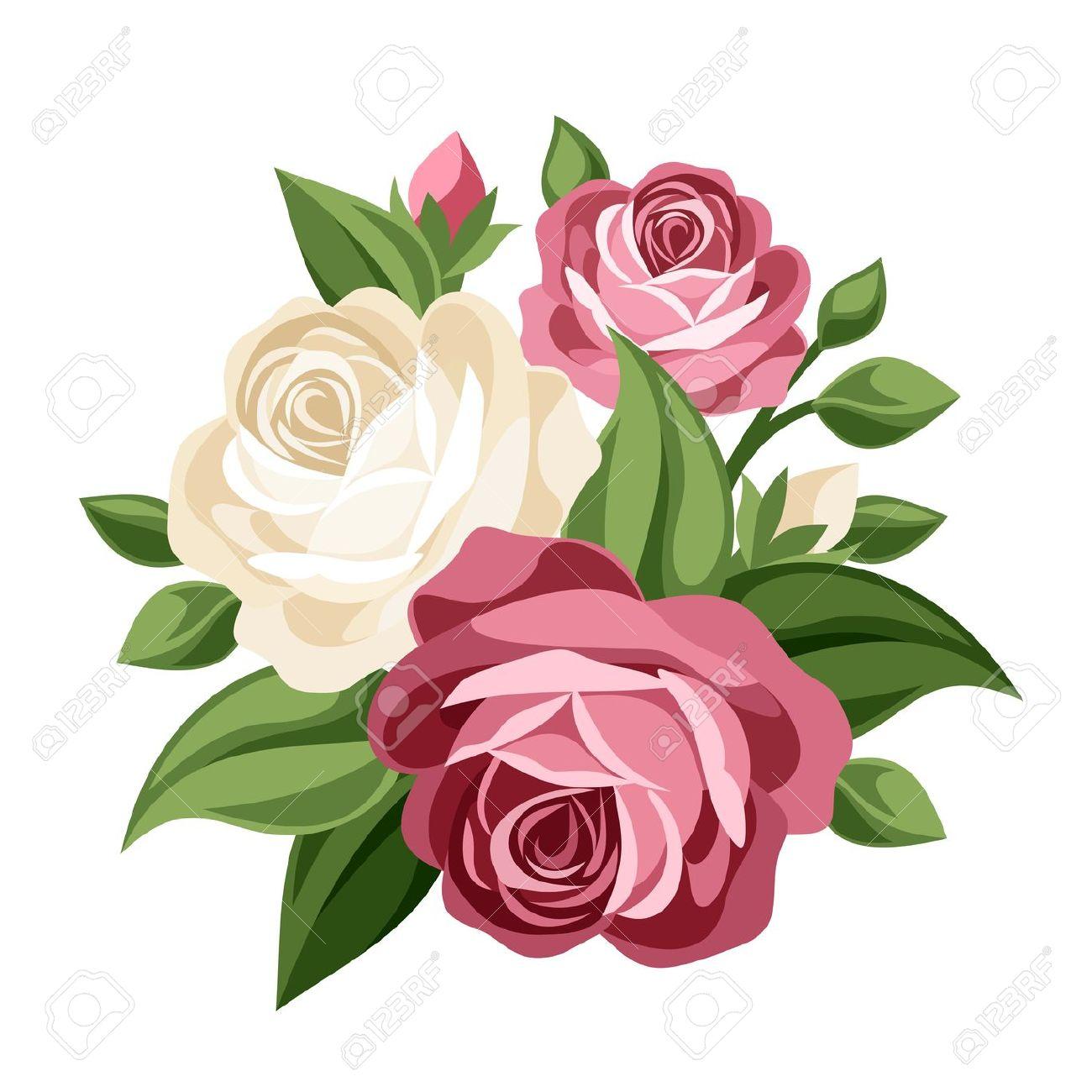 Rose clipart antique flower #13