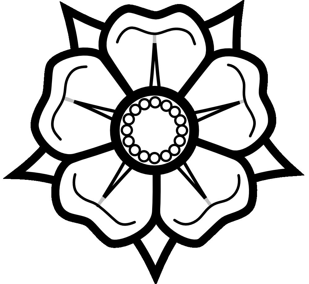 White clipart roseblack Clip Black White  Rose