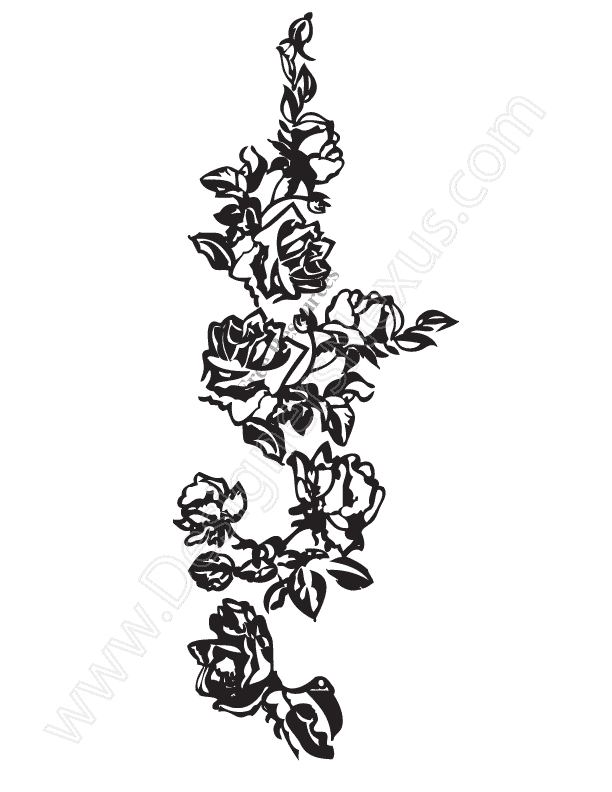 White Rose clipart rose vine #2