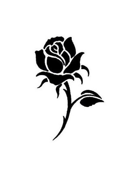 White Rose clipart silhouette Clip images Design Tattoo Art
