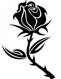 Rose clipart small black #10