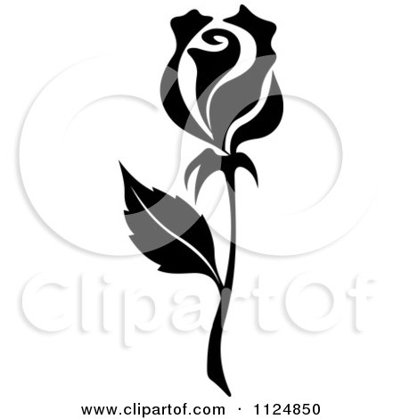 White Rose clipart silhouette Of Black Rose White