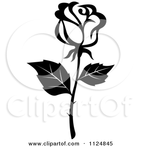 Rose clipart small black #2