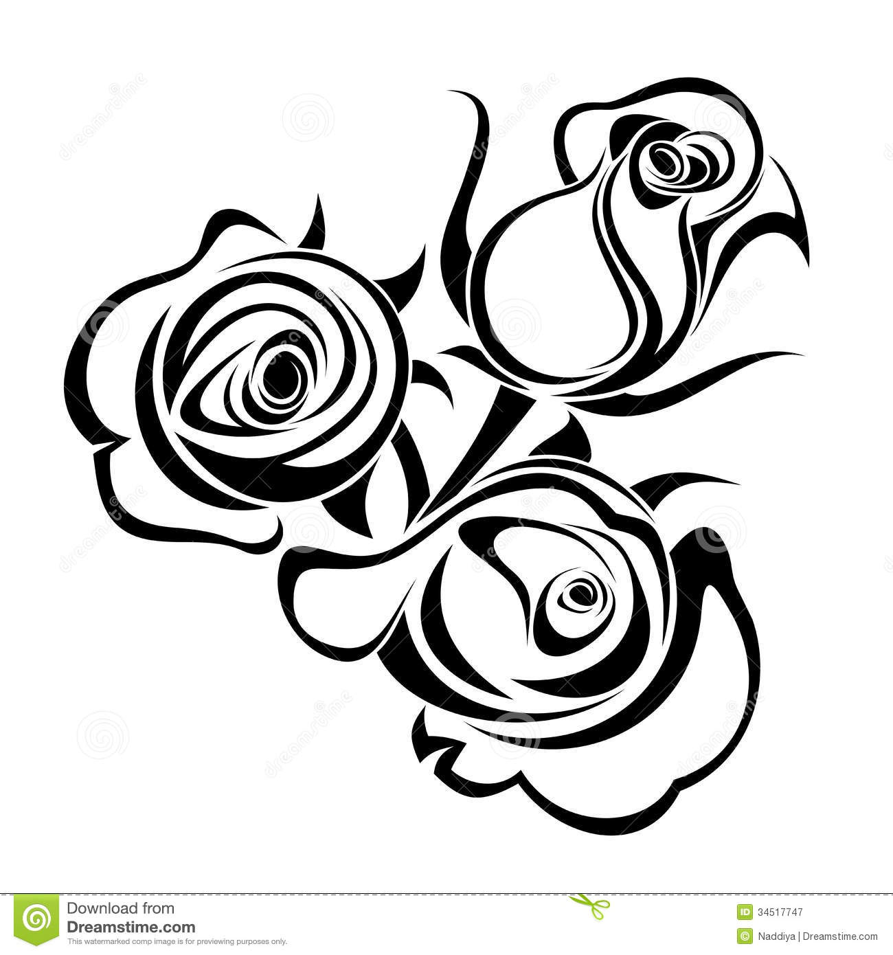 White Rose clipart silhouette Panda Images Clipart Clip Free