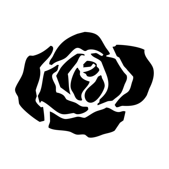 Rose clipart small black #1