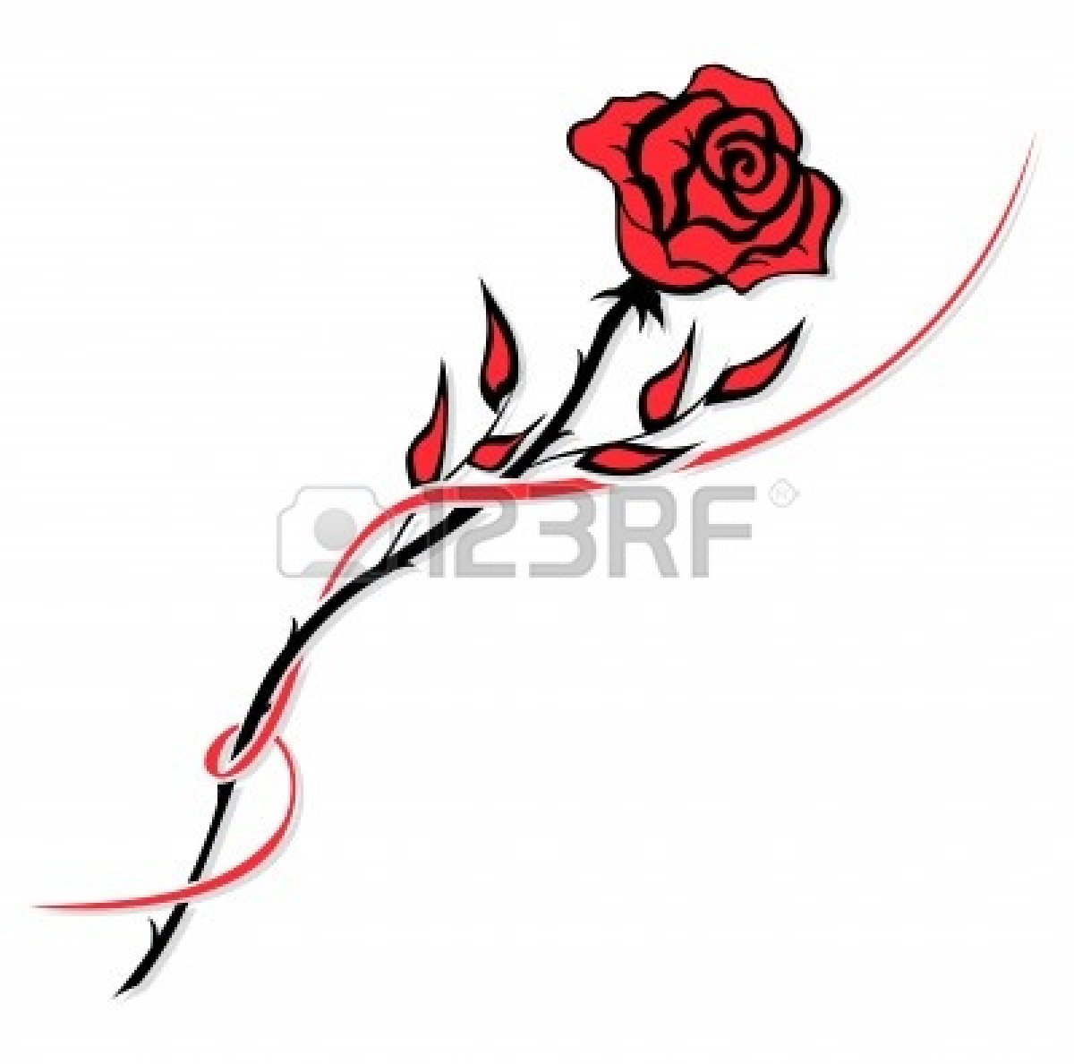 White Rose clipart simple #11