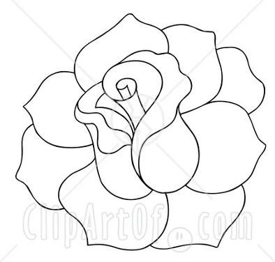 White Rose clipart sketch #6