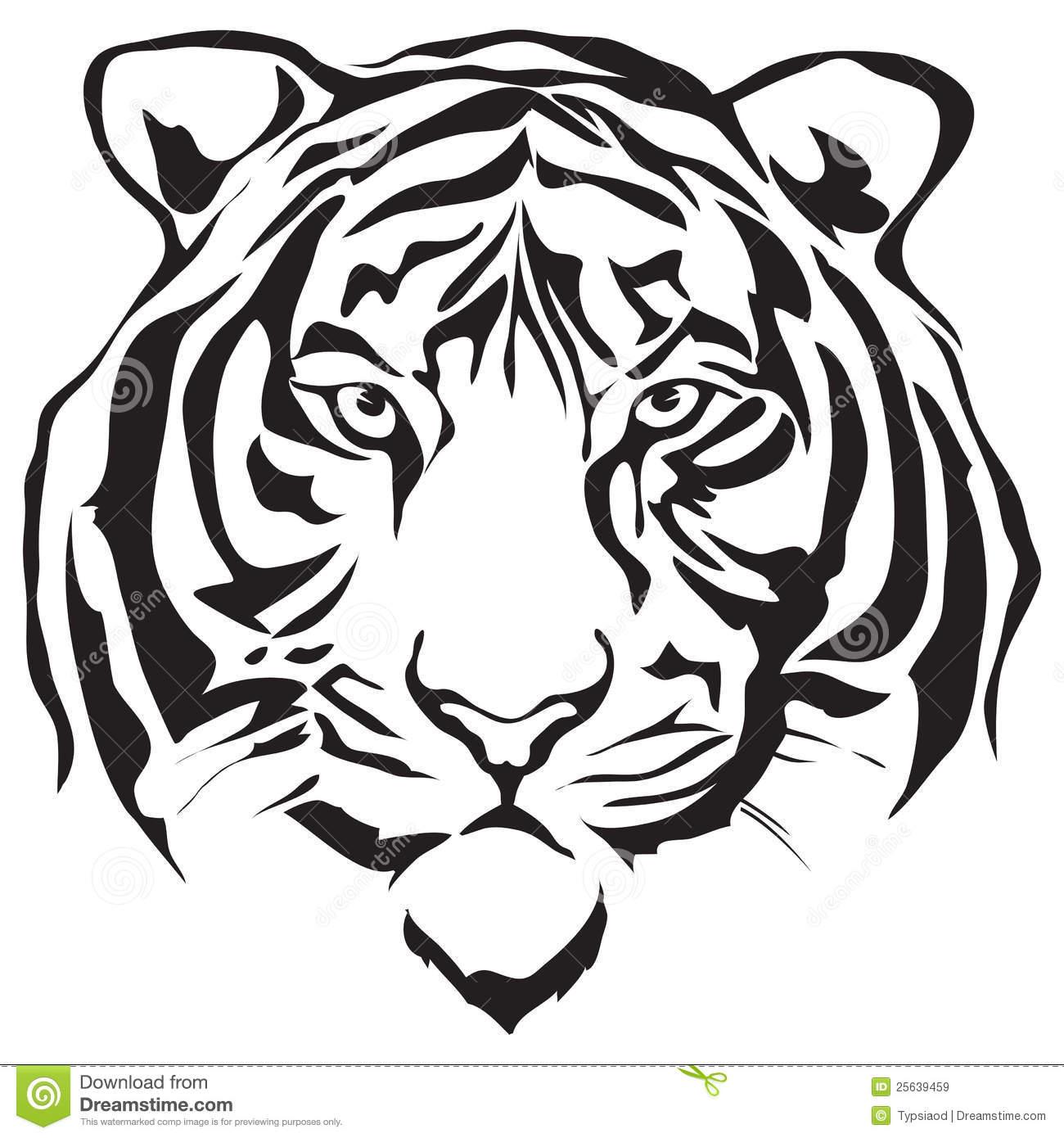 White Tiger clipart Head Download Head White White