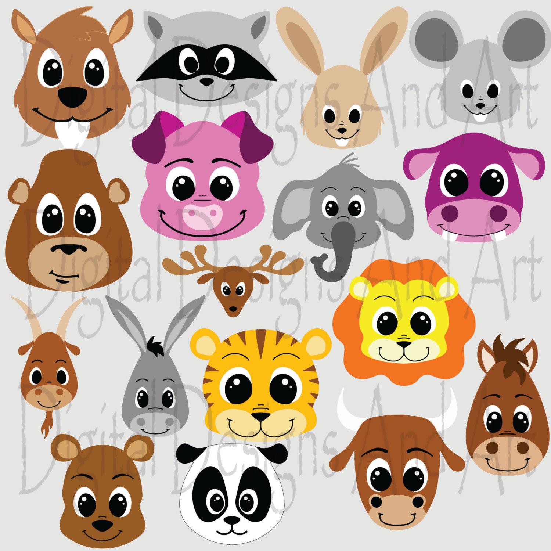 White Tiger clipart jungle animal Clip clipart Cute Animals art