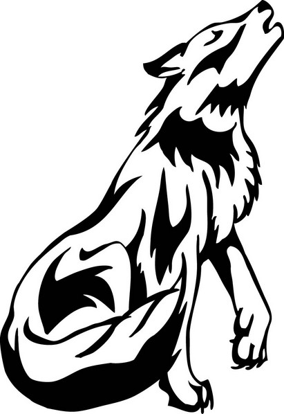 White Wolf clipart Clipart Animal Free Black Clip