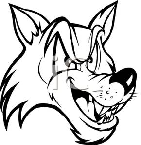 White Wolf clipart black and white White and Black collection Wolf