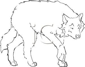 White Wolf clipart black and white Best #4730 And Wolf Black