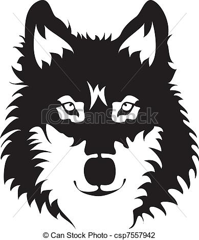 White Wolf clipart icon Of Vector of Wolf Vector