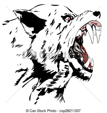 White Wolf clipart icon Wolf Stock Angry Black Drawings