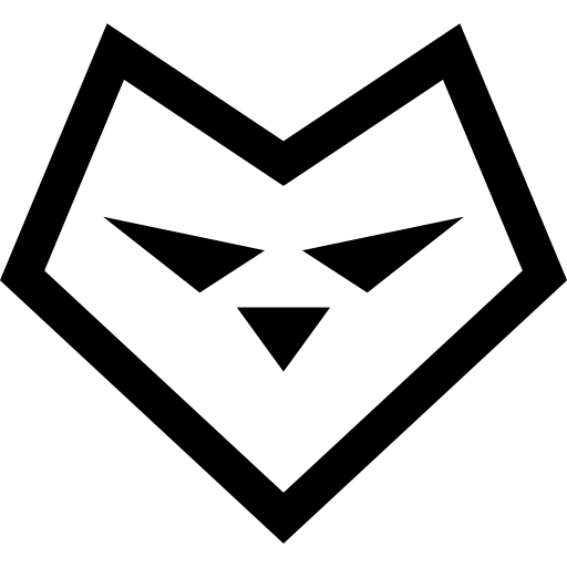 White Wolf clipart icon Icon Heart face Heart face