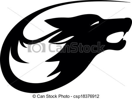 White Wolf clipart icon Of Vector Tattoo Wolf Clip
