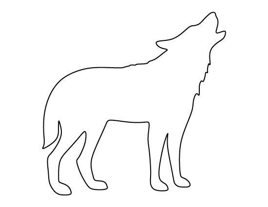 Arctic Wolf clipart outline howling Use stencil Howling ideas the