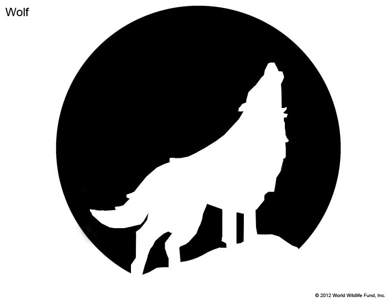 White Wolf clipart pumpkin carving pattern 25+ Patterns stencil WWF Free