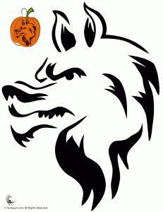 White Wolf clipart pumpkin carving pattern On Pinterest ideas or Pumpkin