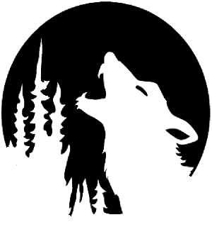 White Wolf clipart pumpkin carving pattern 25+ Wolf Best Howling Pinterest