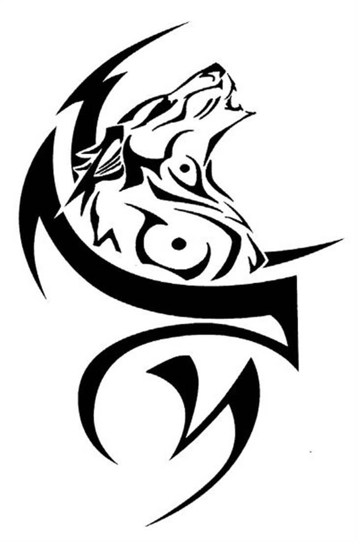 White Wolf clipart stencil art Cool With Tattoo Tribal White