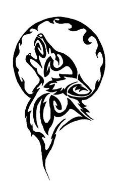 White Wolf clipart stencil art Pinterest on Best Indian Totem