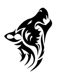 White Wolf clipart stencil art Simple of  Wolf Wolf