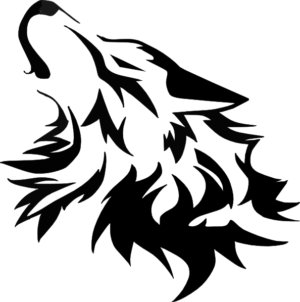 White Wolf clipart wolf head Cliparts Clipart Black The Vector