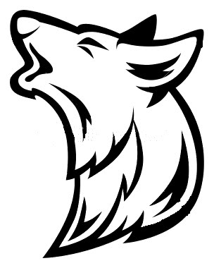 White Wolf clipart wolf howl #10