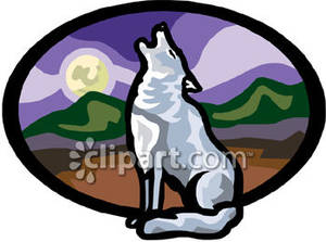 White Wolf clipart wolf howl #6