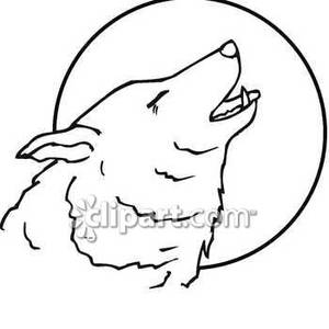White Wolf clipart wolf howl #4