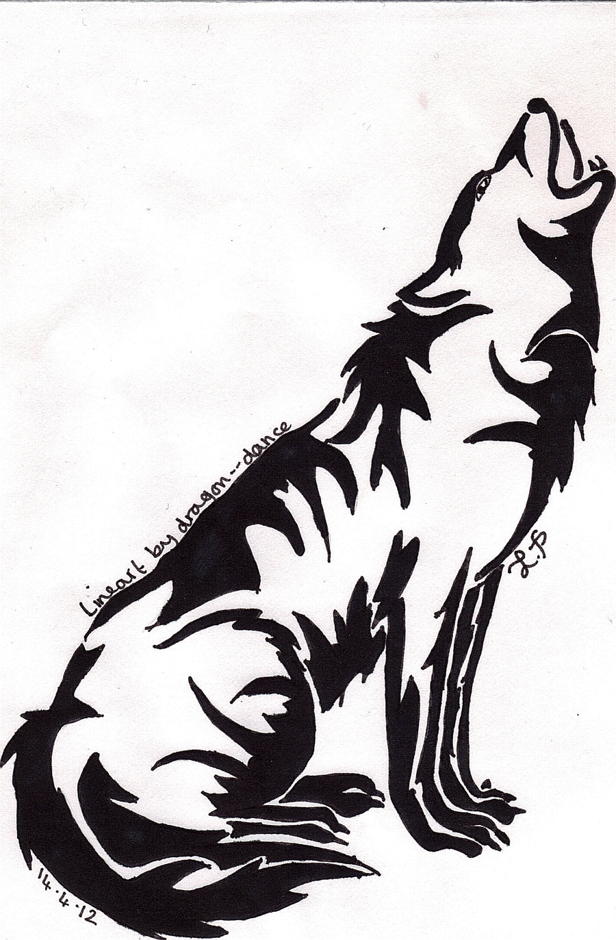 White Wolf clipart wolf howl #13
