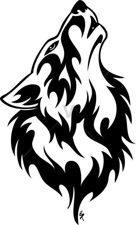 White Wolf clipart wolf howl #11