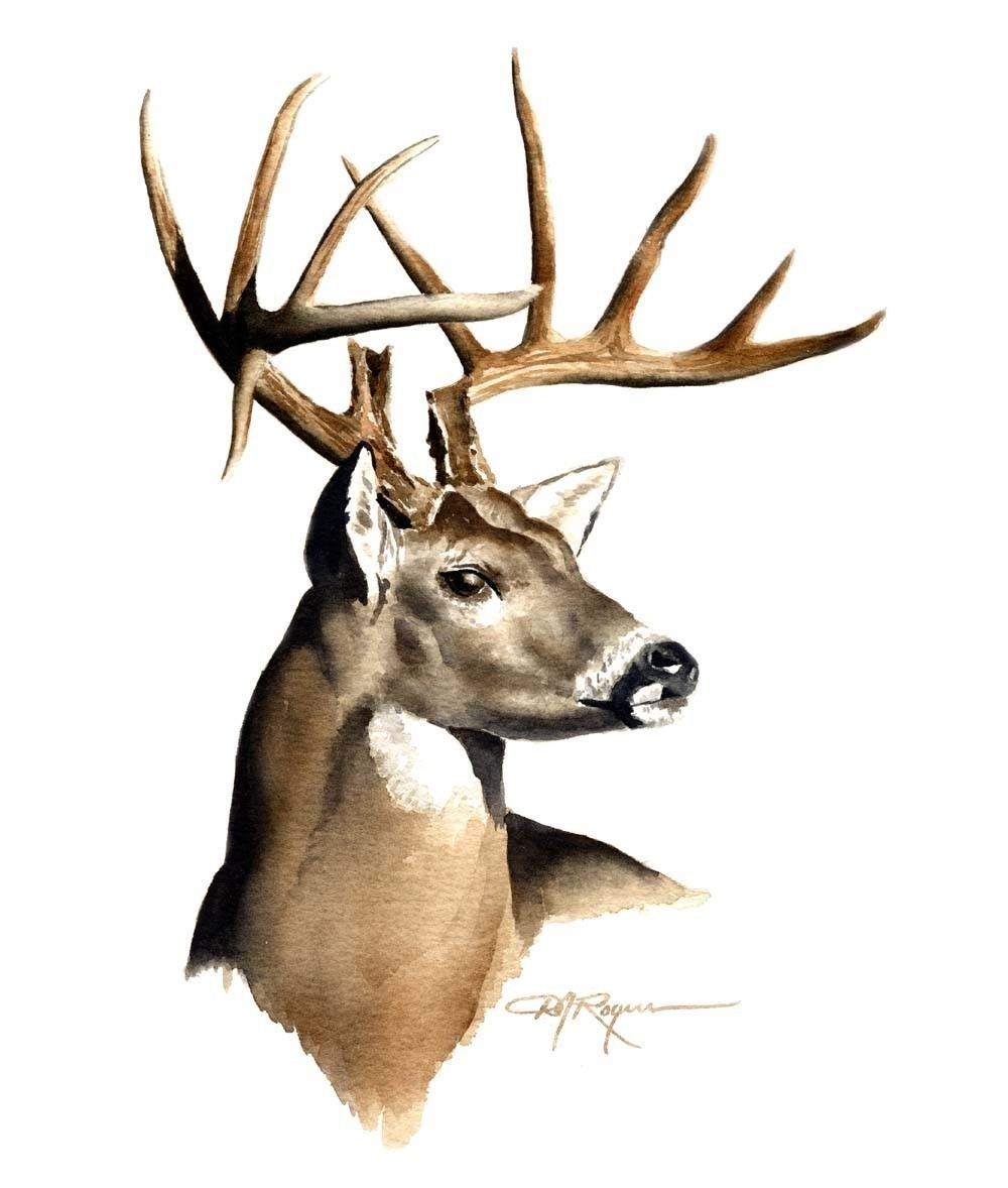 Buck clipart movie Hand  deer painted brown