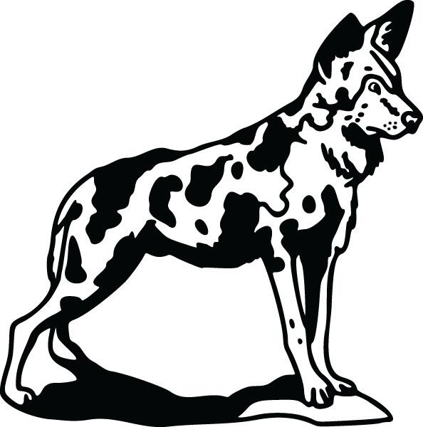 Wild Dog clipart Wild WildDog2 (5652) Gifts Personalized
