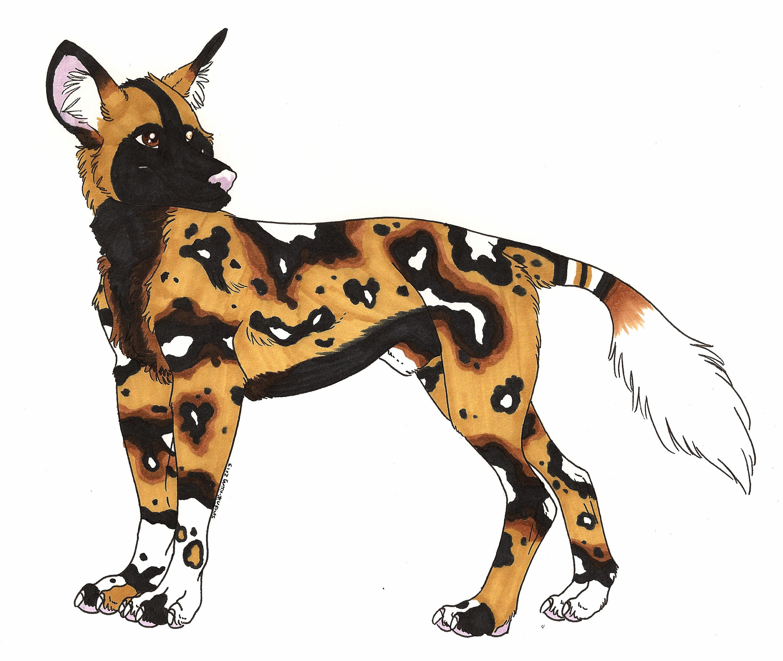 Wild Dog clipart Hyena Clipart African by Design Akydactyl Design