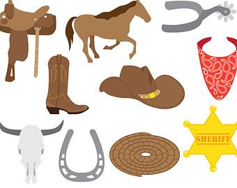 Cowboy clipart western theme Free clip art untry clipart
