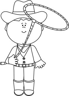 Wild West clipart black and white #2