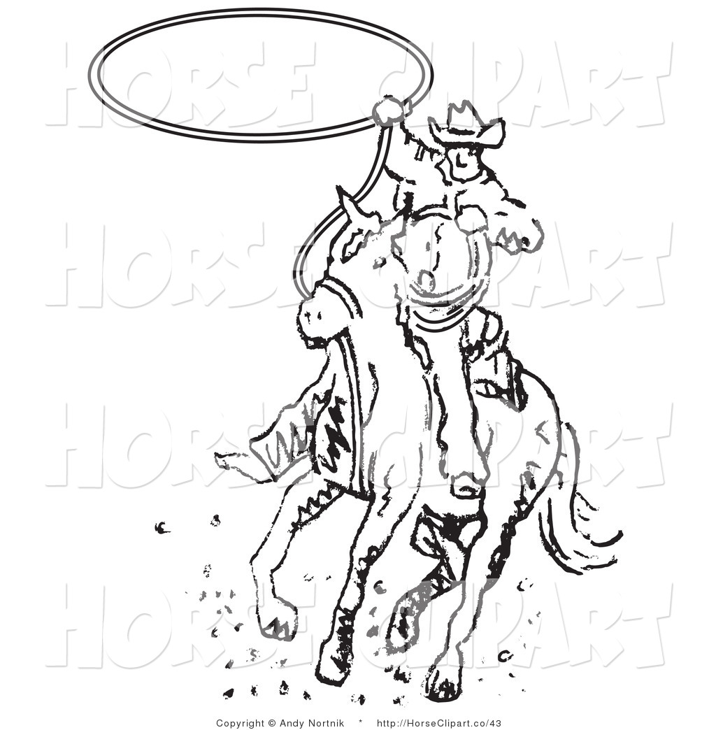 Wild West clipart black and white #11