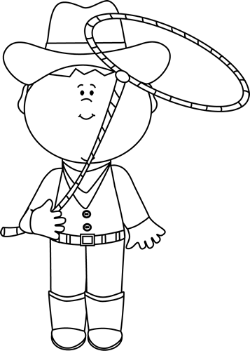 Wild West clipart black and white #14