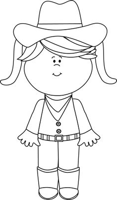 Wild West clipart black and white #10