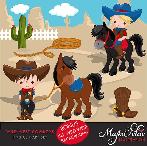 Wild West clipart cactus Cowboy West This & Clipart