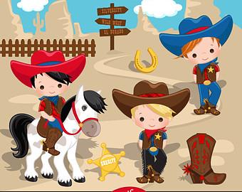 Wild West clipart cap Blue Cowboy Etsy Cowboy West