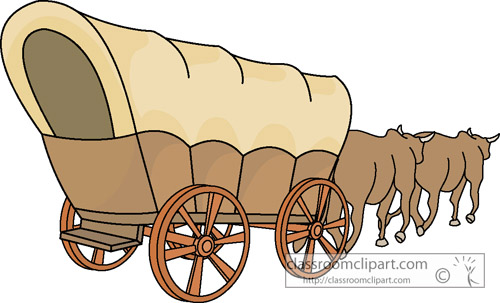 Western clipart covered wagon #14