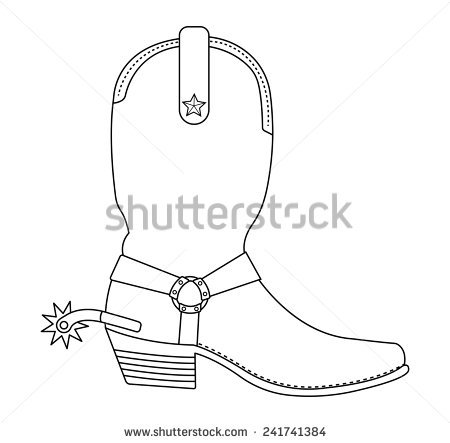 Wild West clipart cowboy boot Of boots star Boot Wild
